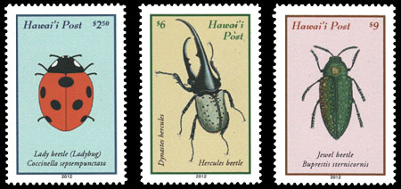 The 250 Stamp Above Left Prepays Additional Charges Such As Extra Weight It Shows Lady Beetle Common Name Ladybug